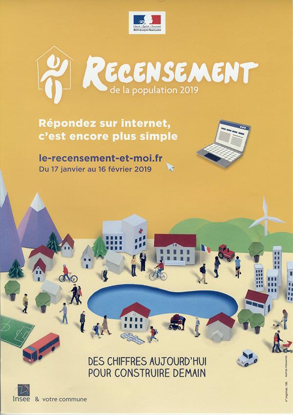 Rencensement de la population de la commune d'Essômes du 17 janvier au 16 février 2019