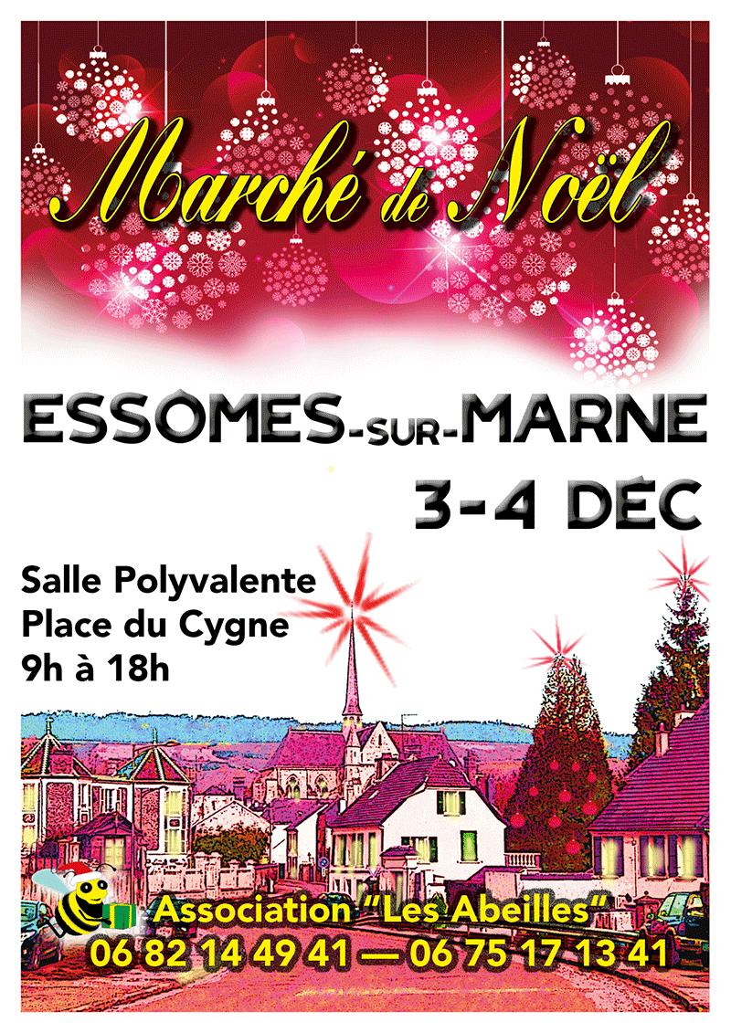 Marché de Noël à Essômes-sur-Marne. Course d'orientation de nuit