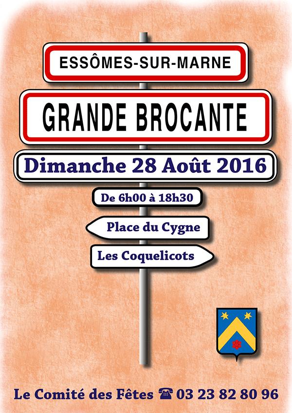 Grande Brocante à Essômes-sur-Marne, place du Cygne et aux Coquelicots. Le 28 août de 6h00 à 18h30