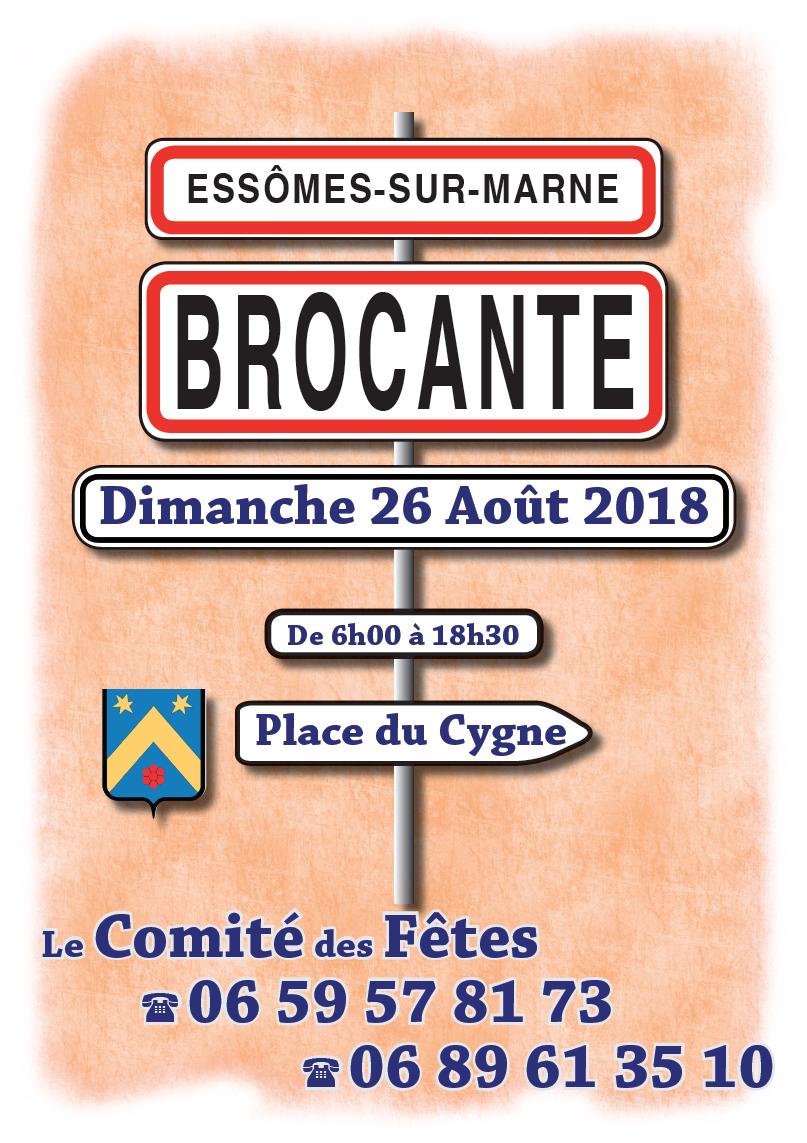 Le Comité des Fêtes a organisé une brocante, place du Cygne,le 26 août 2018.