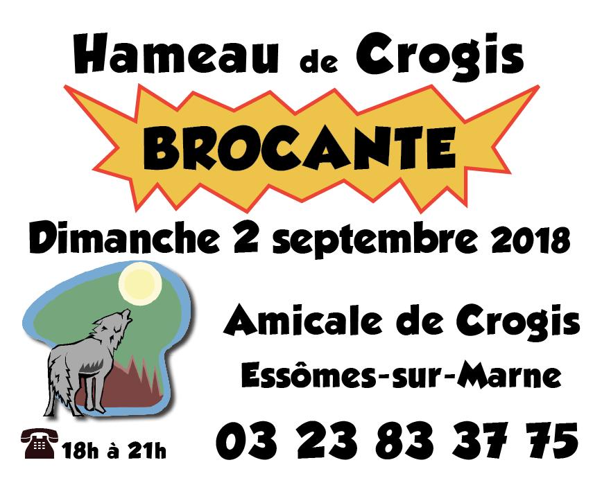 Brocante à Crogis le 2 septembre 2018