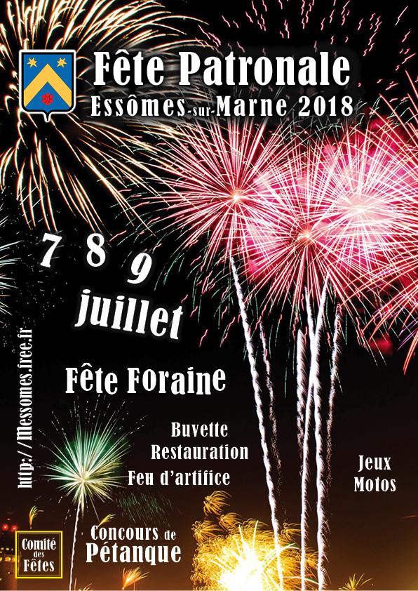 Le Comité des Fêtes a organisé la fête patronale,les 7,8 et 9 juillet 2018.