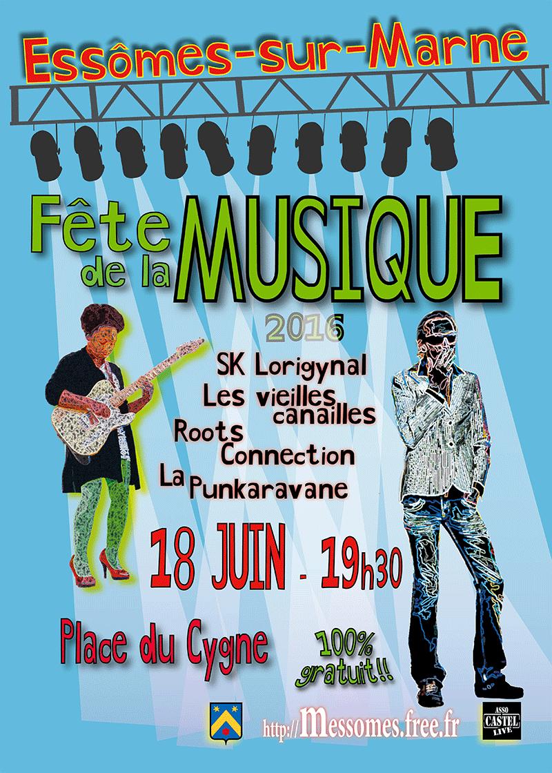 Fête de la Musique, le samedi 18 juin 2016