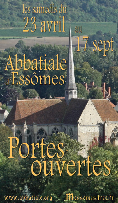 La saison des portes ouvertes de l'abbatiale s'est déroulée du samedi 23 avril au 18 septembre. Des bénévoles de l'association ASAE en ont assuré l'ouverture  tous les samedis de 10h à 12h et de 15h à 18h.
