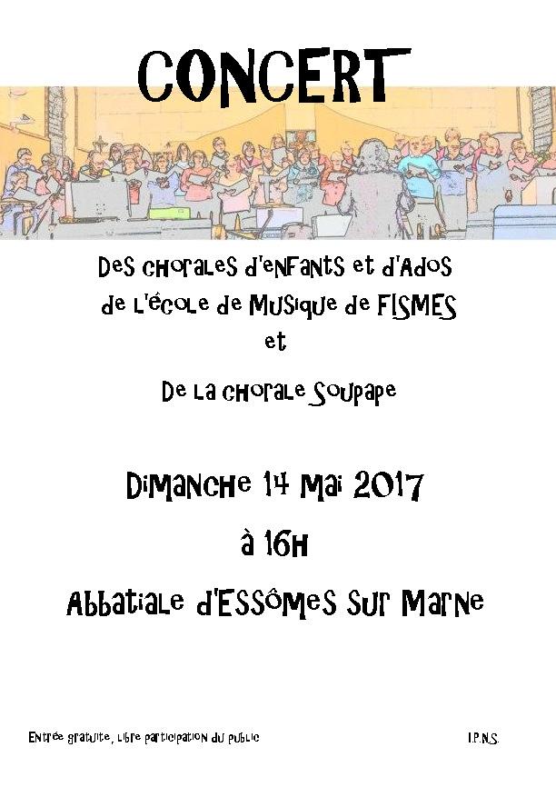 Concert dans l'Abbatiale, le Dimanche 14 mai 2017