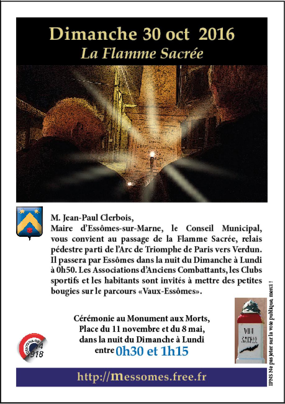 Passage de la flamme sacrée à Essômes-sur-Marne