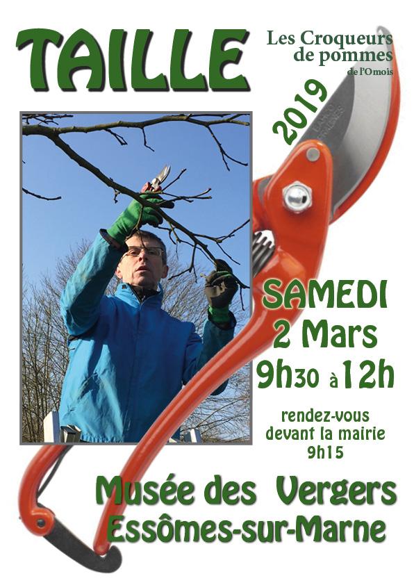 L'association les Croqueurs de Pomme de l'Omois vous propose une matinée de taille participative au musée des vergers, chemin des Paqueux à Essômes-sur-Marne le samedi 2 mars de 9h30 à 12h