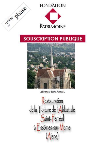 Fondation du Patrimoine Restauration de la toiture de l'Abbatiale.