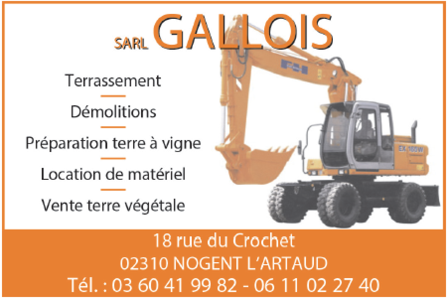 Gallois, terrasseents, démolitions.