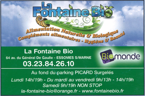 Fontaine Bio, alimentation naturelle.