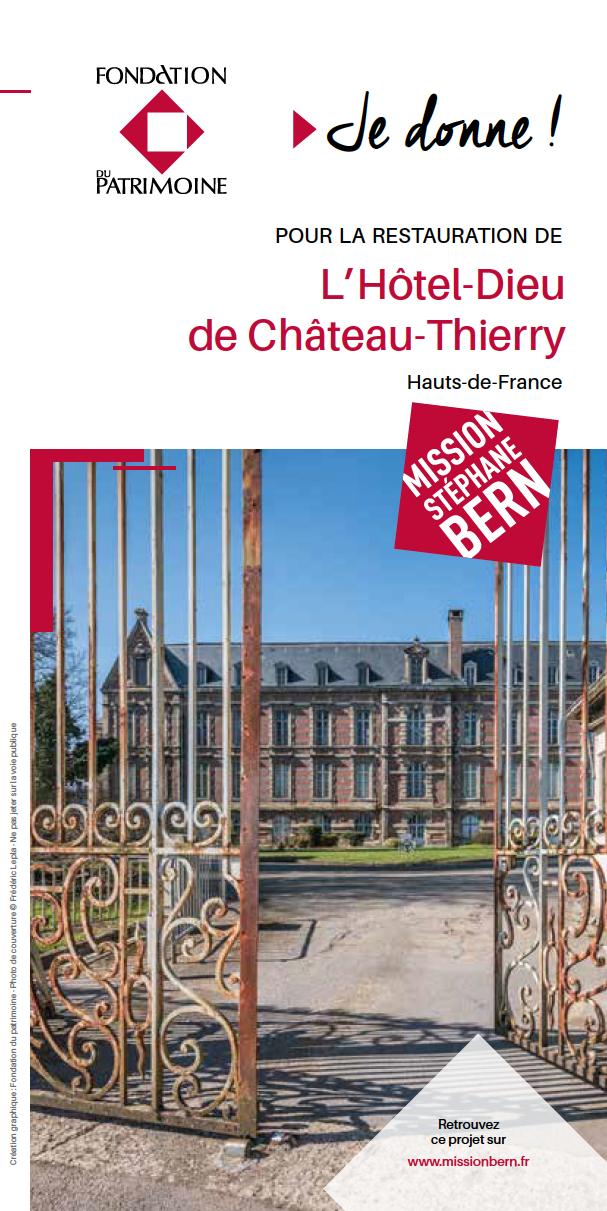 Fondation du Patrimoine - Souscriptioin Hôtel-Dieu de Château-Thierry